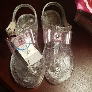 Carter's Glitter Clear Jelly Sandals - Size 12